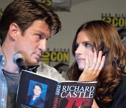 Caskett wallpaper with anime entitled Richard Castle & Kate Beckett