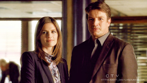 Nathan Fillion wallpaper containing a business suit and a suit called Richard castello & Kate Beckett