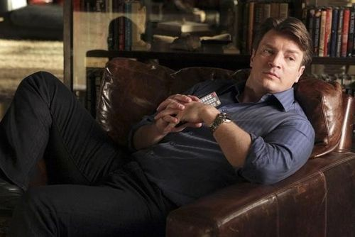 Nathan Fillion 바탕화면 containing a drawing room, a family room, and a business suit titled Richard 성