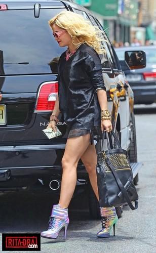 Rita Ora - Around NYC's SoHo Neighborhood - June 19, 2012
