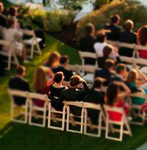Rob & Kristen attending wedding