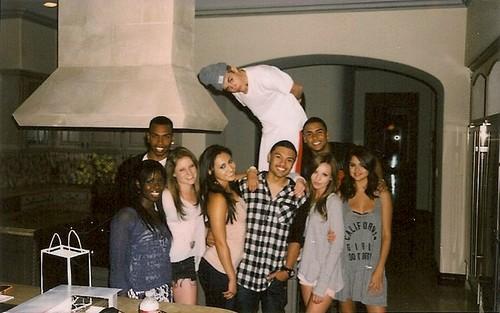 Selena Gomez, Justin Bieber, Alfredo Flores, Sammy Droke and Francia Raisa