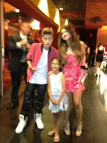"""Selena Gomez & Justin Bieber at the premiere of """"Katy Perry: Part Of Me"""""""