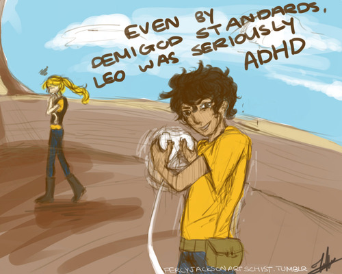 Seriously ADHD - the-heroes-of-olympus Fan Art