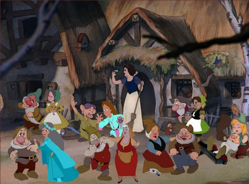 disney crossover wallpaper titled Seven Brides for Seven Dwarfs