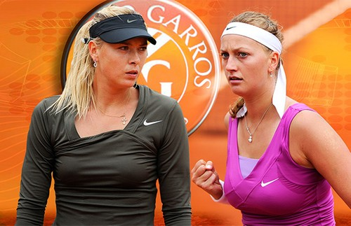 Sharapova vs Kvitova breast - tennis Photo
