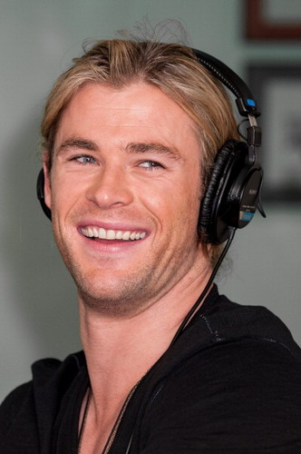 Chris Hemsworth wallpaper containing a portrait titled SiriusXM Studios
