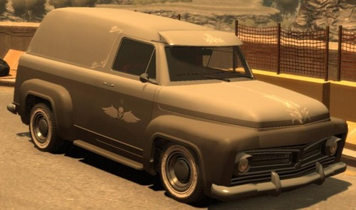 Grand Theft Auto IV The Lost And Damned Hintergrund with a pickup entitled Slamvan
