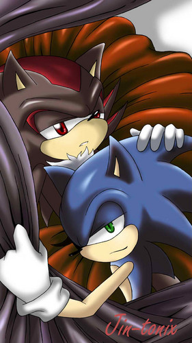 Sonadow wallpaper entitled Sonic Shadow
