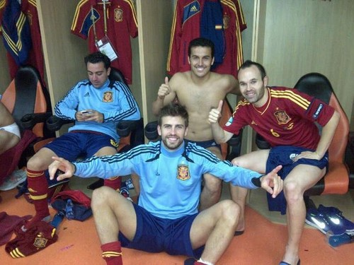 Spain National Football Team wallpaper titled Spain players in locker room after Euro 2012 semi finals