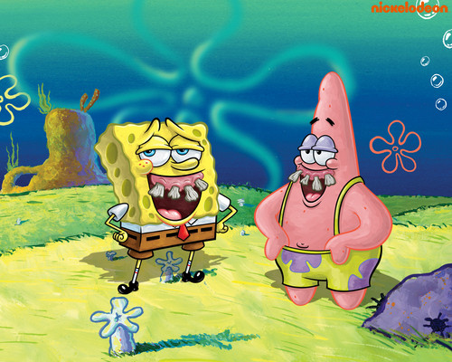 Spongebob Squarepants پیپر وال containing عملی حکمت called Spongebob & Patrick