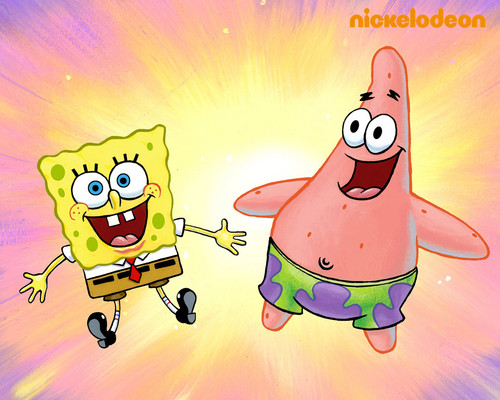 Spongebob Squarepants wallpaper containing anime called Spongebob & Patrick