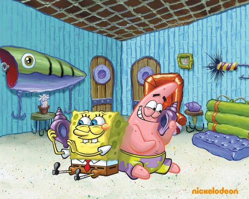 bob esponja calça quadrada wallpaper possibly containing animê titled Spongebob & Patrick
