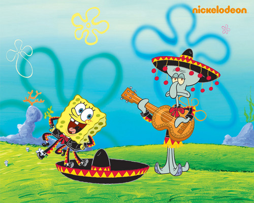Spongebob Squarepants پیپر وال with عملی حکمت called Spongebob & Squidward
