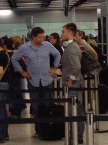 Spotted :Ed Westwick at Heathrow Airport.