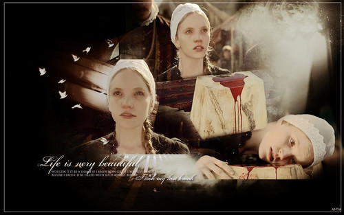 Tudor History پیپر وال titled Tamzin Merchant as Katherine Howard