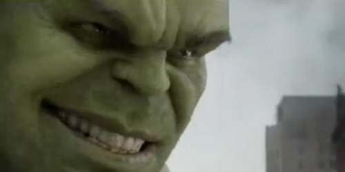 The Hulk Smiling