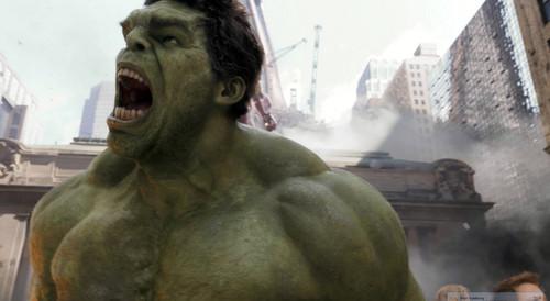 The Hulk yelling