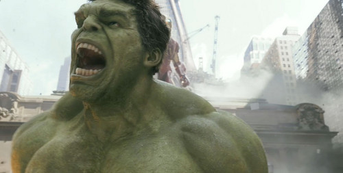 The Hulk yelling