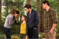 The cullens and jacob in the forest