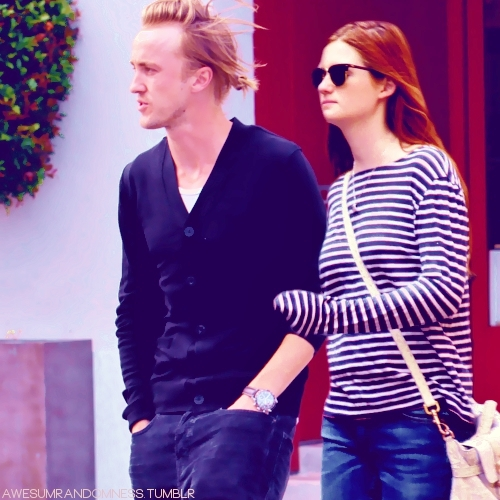 Tom Felton and Bonnie Wright