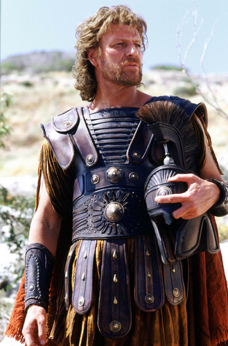 Sean Bean wallpaper possibly with a breastplate and a tabard entitled Troy