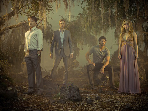 True Blood wallpaper containing a fountain called True Blood Cast Michael Muller's Photoshoot 2011
