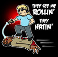 Try to catch me riden' zombies