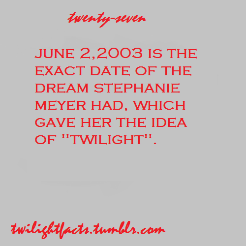 Twilight facts 21-40