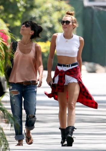 Wearing Short Shorts & Braless In Studio City [20 June 2012]