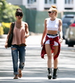 Wearing Short Shorts & Braless In Studio City [20 June 2012]