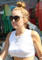 Wearing Short Shorts & Braless In Studio City  [20 June 2012] - miley-cyrus photo
