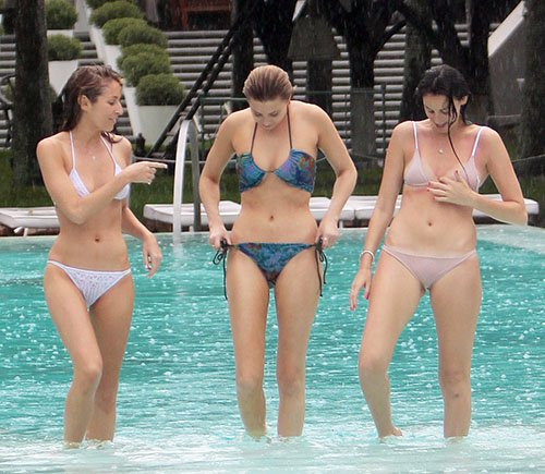 Whitney Port at the pool in Miami