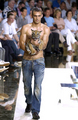 Will Chalker by Dolce &amp; Gabbana with Baby Tiger - male-models photo