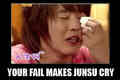 Your fail made Junsu cry
