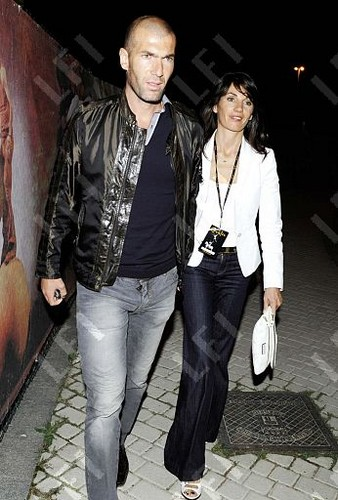 Zidane with his wife Veronique