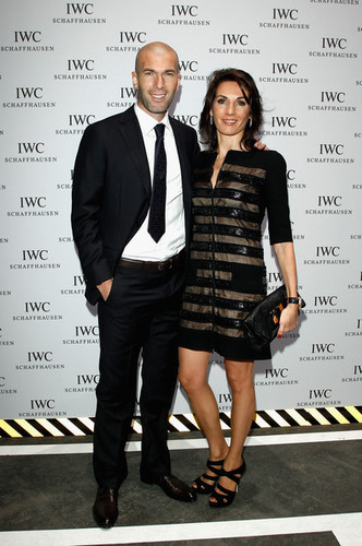 Zidane with his wife Veronique
