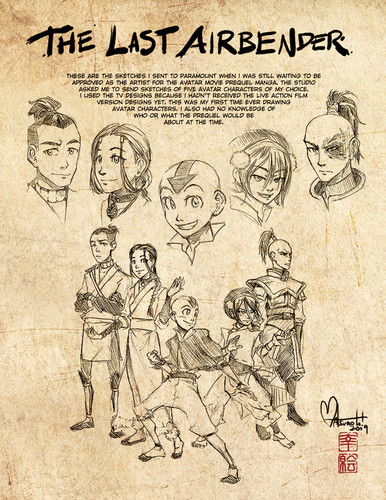 avatar sketches