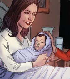 hechiceras comic phoebe and daughter parker