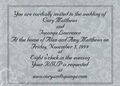 cory and topanga wedding invitation - boy-meets-world photo