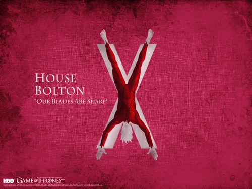 Game of Thrones پیپر وال probably with a sign titled House Bolton