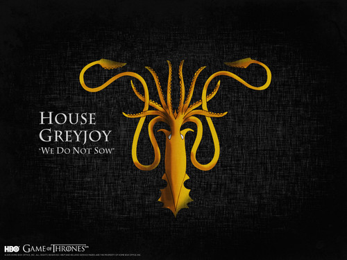 Game of Thrones wallpaper possibly with a sign titled House Greyjoy