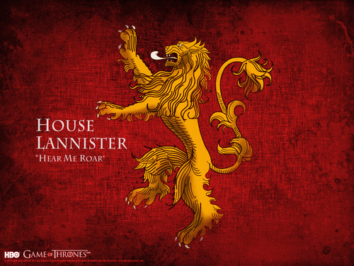 Game of Thrones karatasi la kupamba ukuta possibly with anime entitled House Lannister