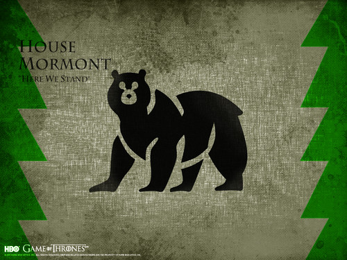 Game of Thrones wallpaper possibly with a sign titled House Mormont