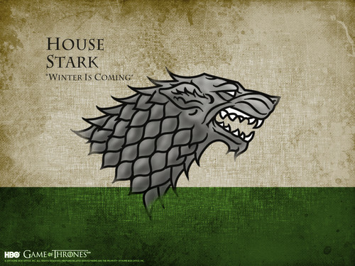 Game of Thrones پیپر وال titled House Stark