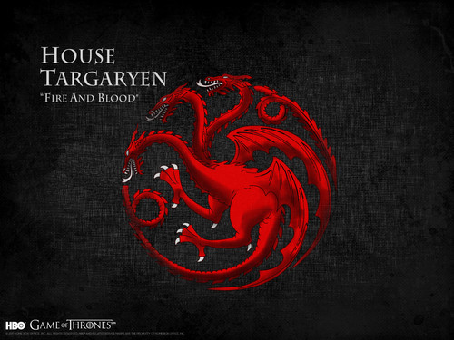 Game of Thrones wallpaper probably with a red cabbage titled House Targaryen