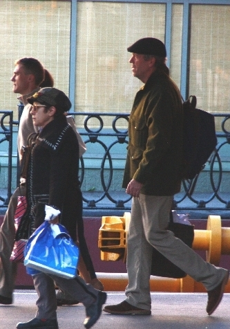 hugh laurie at the train station in St. Petersburg( Russia)