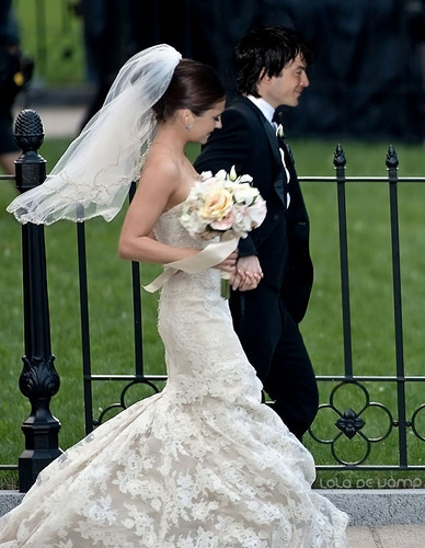 Ian somerhalder and nina dobrev images ian nina wedding hd ian somerhalder and nina dobrev wallpaper with a bridesmaid called ian nina wedding junglespirit Images