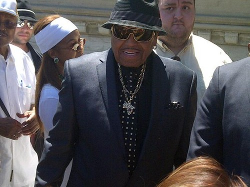 joe jackson at forest lawn, glendale LA june 25th 2012 - michael-jackson Photo
