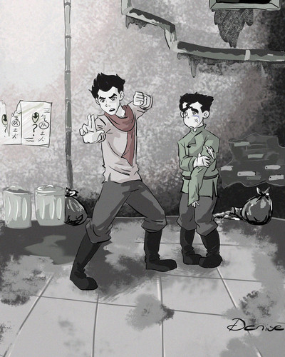mako and bolin in streets